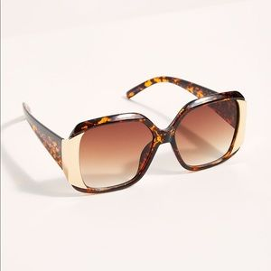 Free People Be Bold Square Sunglasses